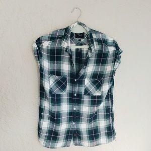 Rails Britt Short Sleeve Flannel Top